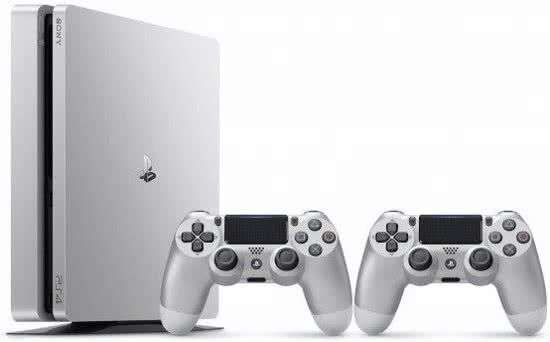 pack console sony ps4 slim 500 go argent 2 me manette. Black Bedroom Furniture Sets. Home Design Ideas