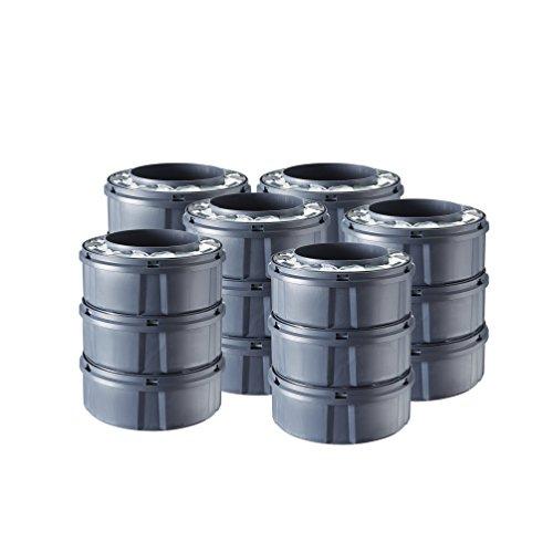 Lot de 18 recharges tommee tippee 422566 pour poubelle - Recharges poubelle a couches sangenic ...