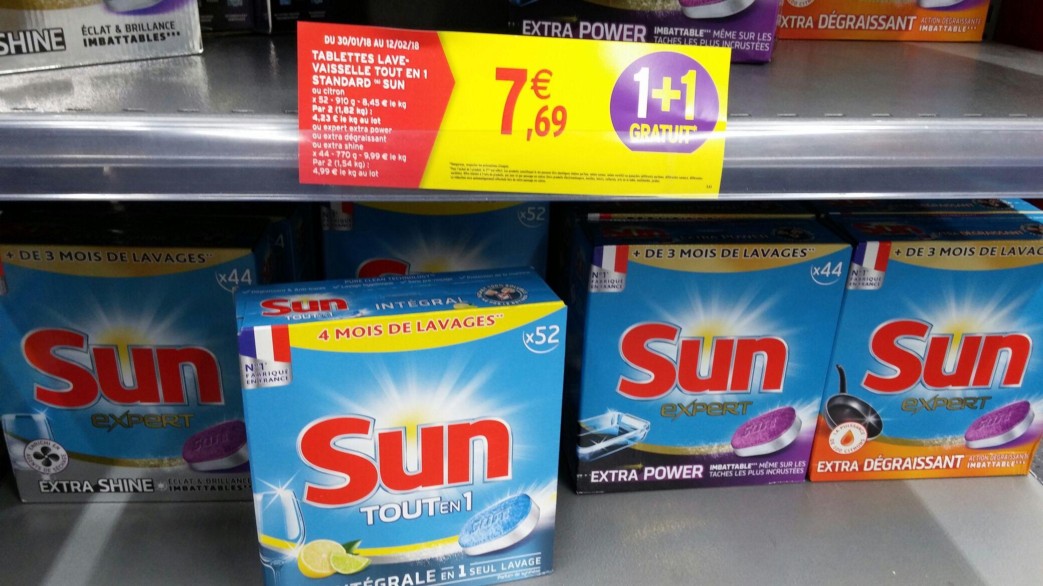 lot de 2 bo tes de tablettes lave vaisselle sun tout en 1 diff rentes vari t s diff rents. Black Bedroom Furniture Sets. Home Design Ideas
