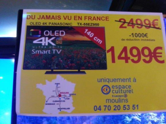 tv 55 panasonic 55ez950 oled 4k moulins 03. Black Bedroom Furniture Sets. Home Design Ideas