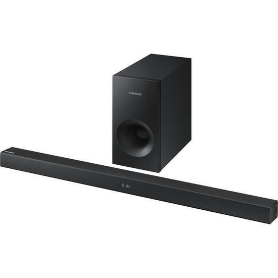 cdiscount volont barre de son 2 1 samsung hw k335 bluetooth 130w avec caisson de basses. Black Bedroom Furniture Sets. Home Design Ideas