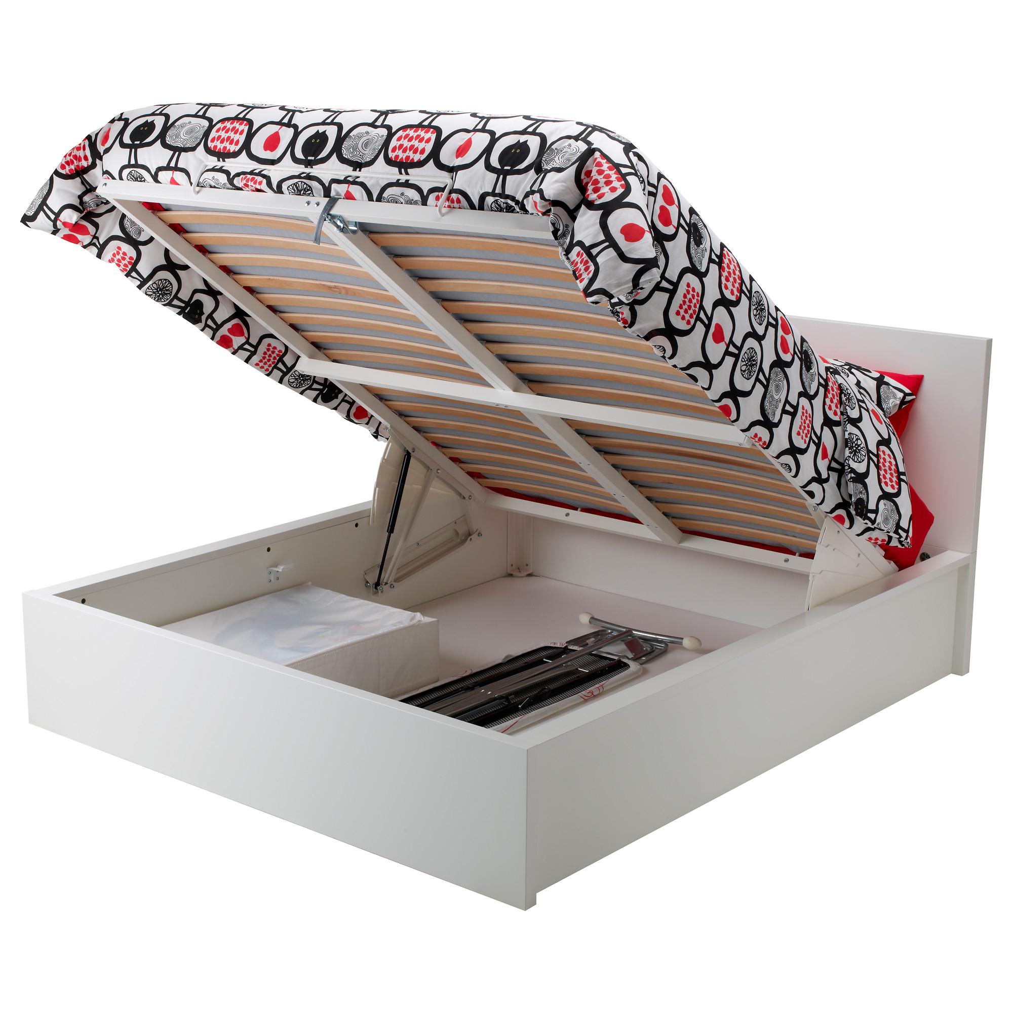 Ikea Family Cadre Lit Coffre Blanc Malm 160 X 200 Cm