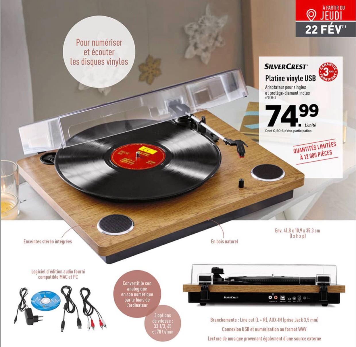 Platine Vinyle Usb Silvercrest Avec Garantie De 3 Ans
