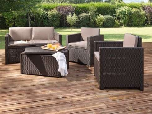 salon de jardin allibert hawa 1 canap deux places 2 fauteuils 1 table basse. Black Bedroom Furniture Sets. Home Design Ideas