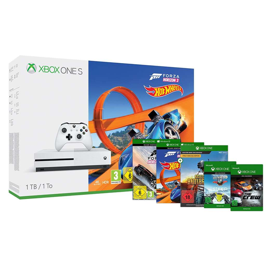 console microsoft xbox one s 1 to forza horizon 3 hot wheels dlc playerunknown 39 s. Black Bedroom Furniture Sets. Home Design Ideas