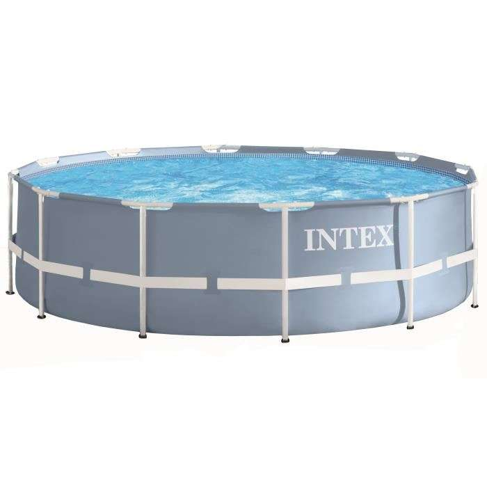 Piscine hors sol tubulaire intex prism frame ronde 366 x for Piscine ronde intex