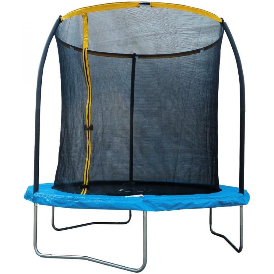 trampoline avec filet de protection 2 43x2 44m. Black Bedroom Furniture Sets. Home Design Ideas
