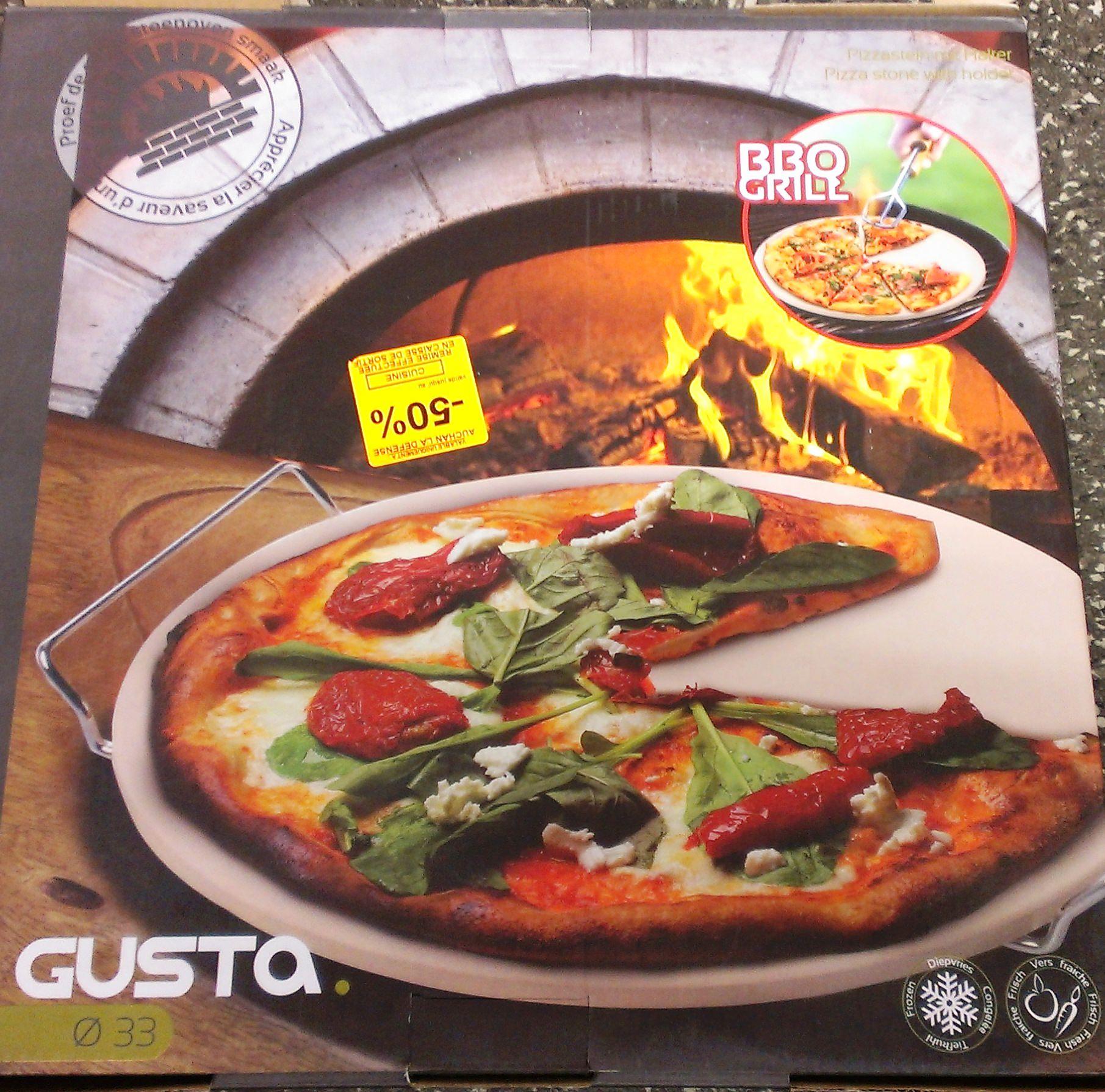 pierre pizza ronde gusta 33 cm avec support auchan la d fense 92 englos 59. Black Bedroom Furniture Sets. Home Design Ideas