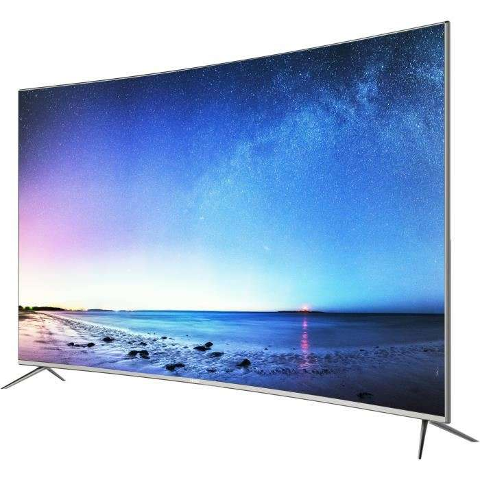 tv 55 haier le55q6500u led 4k uhd hdr incurv e smart tv. Black Bedroom Furniture Sets. Home Design Ideas