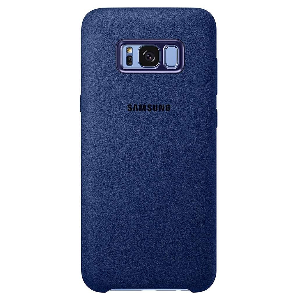coque samsung en alcantara bleu pour samsung galaxy s8. Black Bedroom Furniture Sets. Home Design Ideas