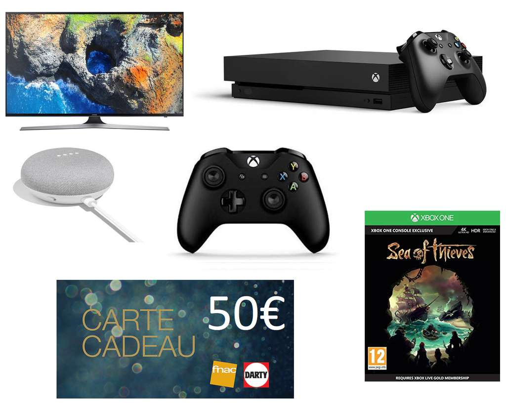 tv 49 samsung ue49mu6105 4k console microsoft xbox one x 2 manettes sea of thieves. Black Bedroom Furniture Sets. Home Design Ideas