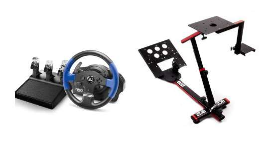 volant thrustmaster force feedback t150 rs pro support stand wheel 20 en ch que cadeau pour. Black Bedroom Furniture Sets. Home Design Ideas