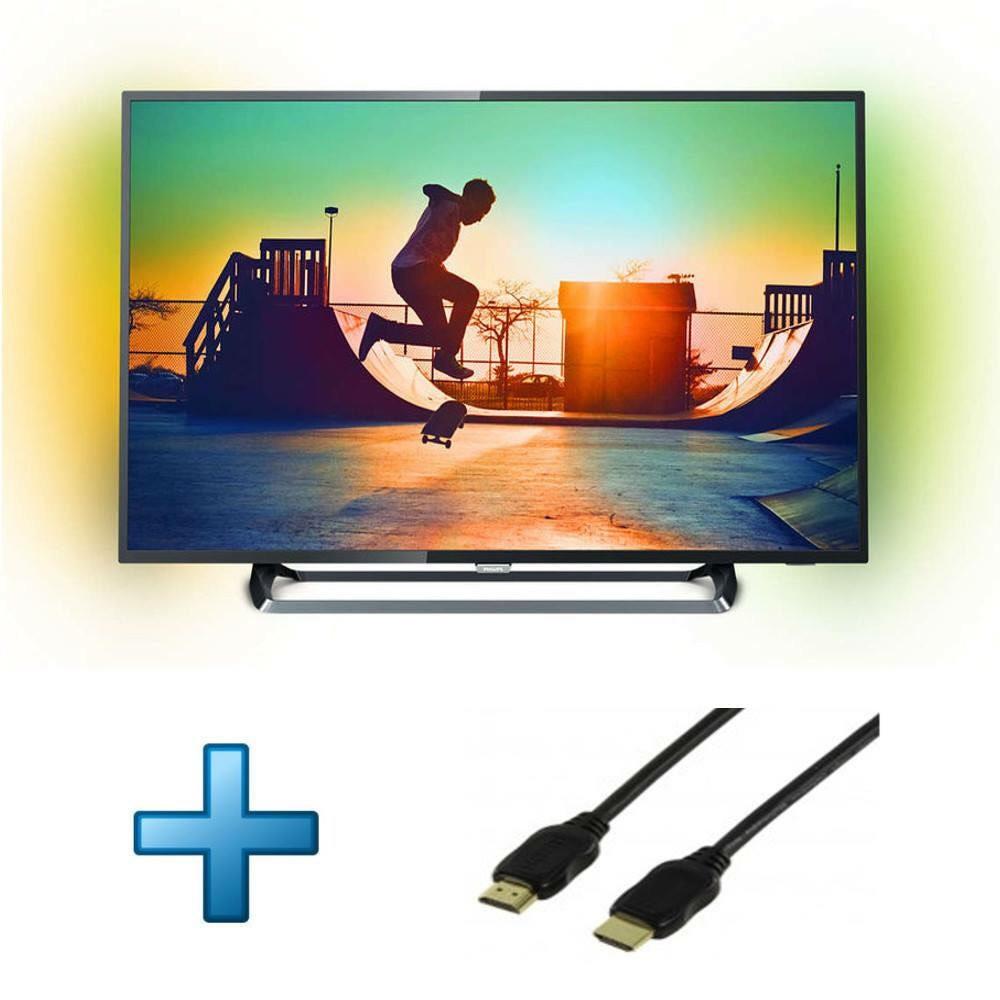 tv 55 philips 55pus6262 ambilight 4k uhd c ble hdmi 1 5 m tre. Black Bedroom Furniture Sets. Home Design Ideas