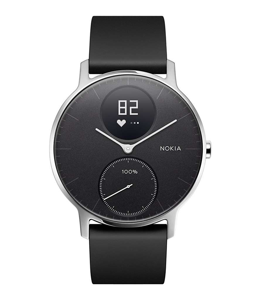 montre connect e hybride nokia steel hr 36mm via odr de 50. Black Bedroom Furniture Sets. Home Design Ideas