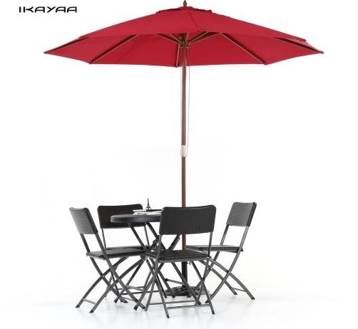 parasol sur pied en bois avec toile r sistante l eau et syst me anti vent 2 7 m tre de. Black Bedroom Furniture Sets. Home Design Ideas