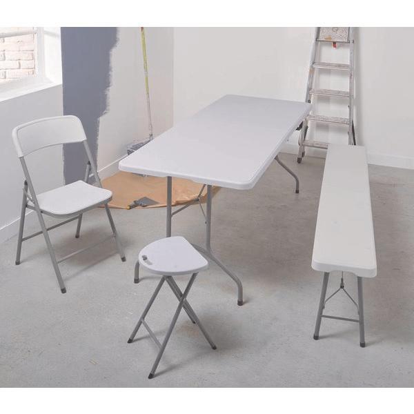 table pliante blanche 1 80m. Black Bedroom Furniture Sets. Home Design Ideas