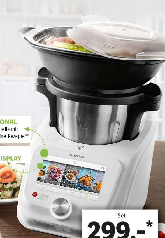 Robot monsieur cuisine connect silvercrest frontaliers allemagne for Prix cuisine