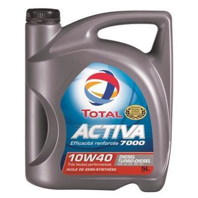 bidon d 39 huile 5l 10w40 total activa 7000 essence ou diesel