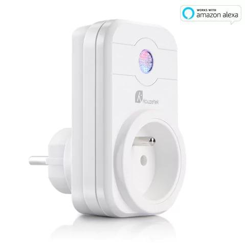 prise connect e et programmable houzetek swa1 plug fr compatible android ios et alexa. Black Bedroom Furniture Sets. Home Design Ideas