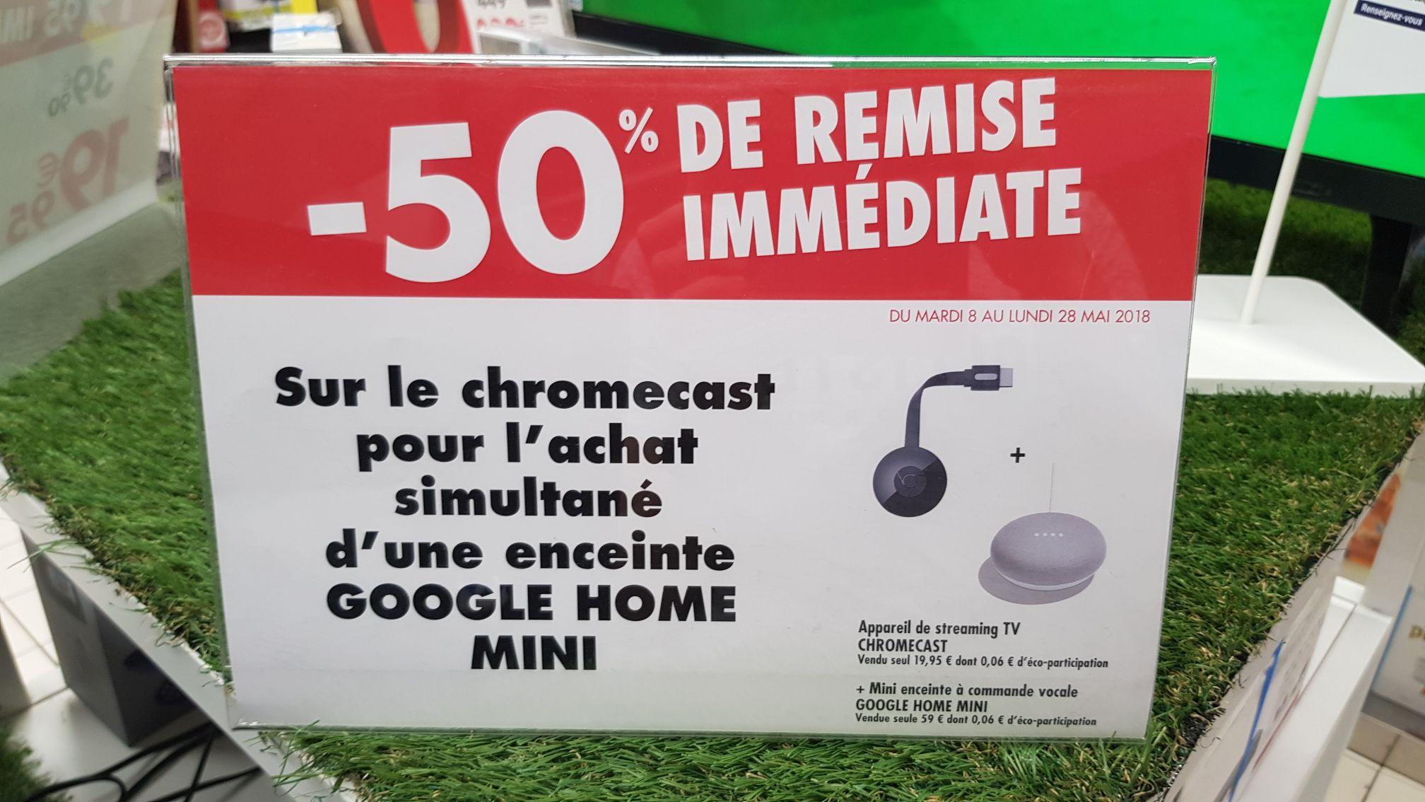 enceinte google home mini google chromecast 2. Black Bedroom Furniture Sets. Home Design Ideas