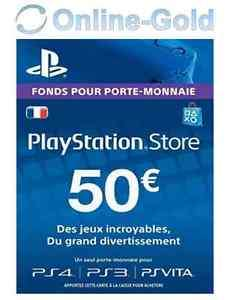 carte sony playstation store de 50 d mat rialis. Black Bedroom Furniture Sets. Home Design Ideas