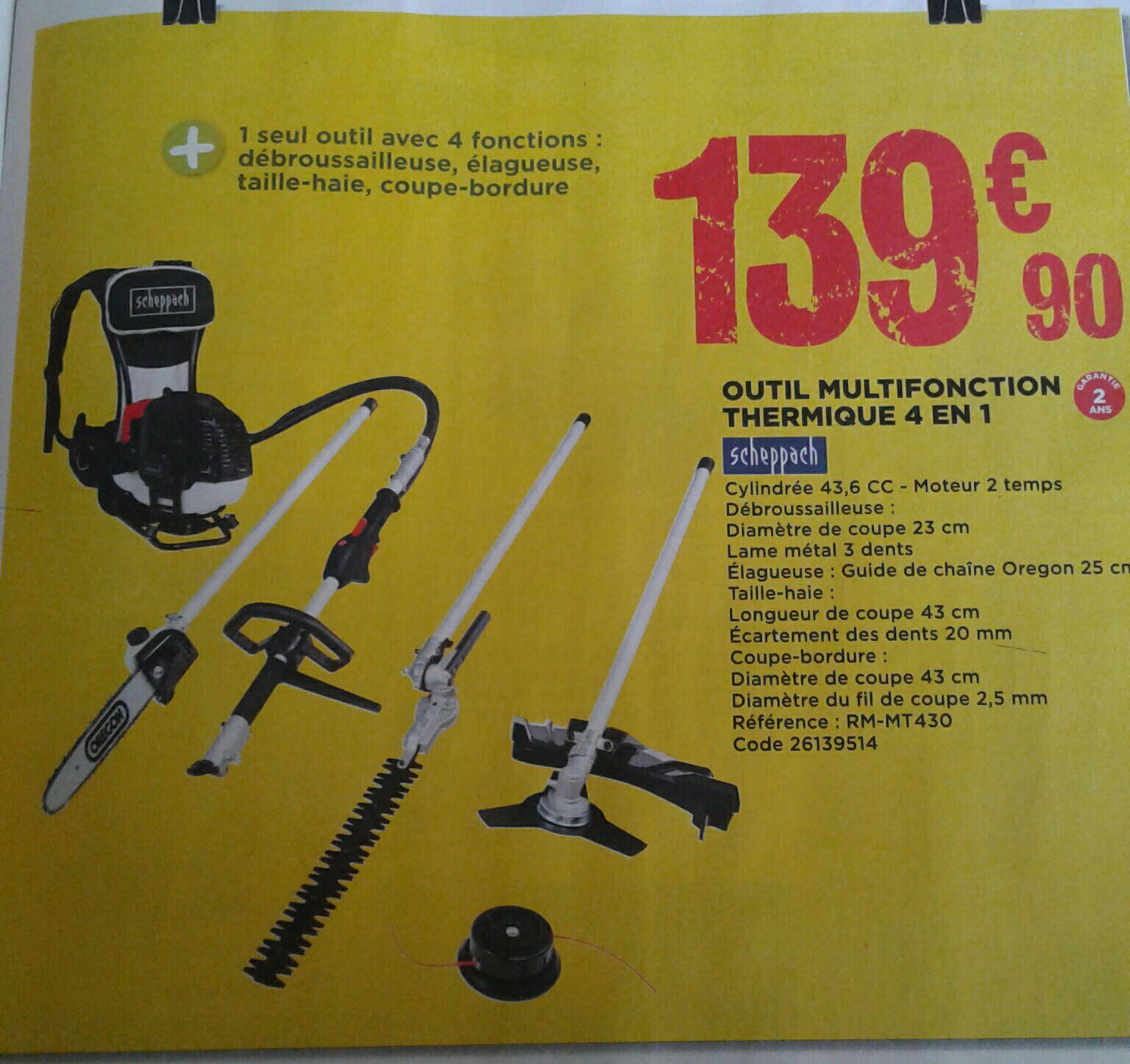 Outil De Jardin Multifonction Thermique 4 En 1 Scheppach Dealabs Com