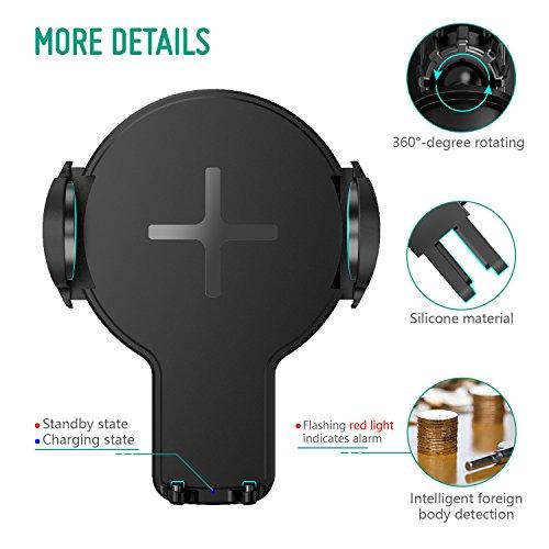 chargeur sans fil rapide induction auckly qi avec support t l phone voiture vendeur tiers. Black Bedroom Furniture Sets. Home Design Ideas