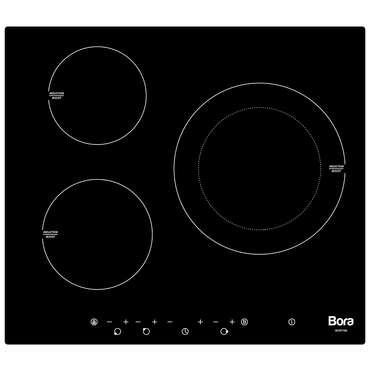 table de cuisson bora borti3b avec 3 feux induction 6500w. Black Bedroom Furniture Sets. Home Design Ideas