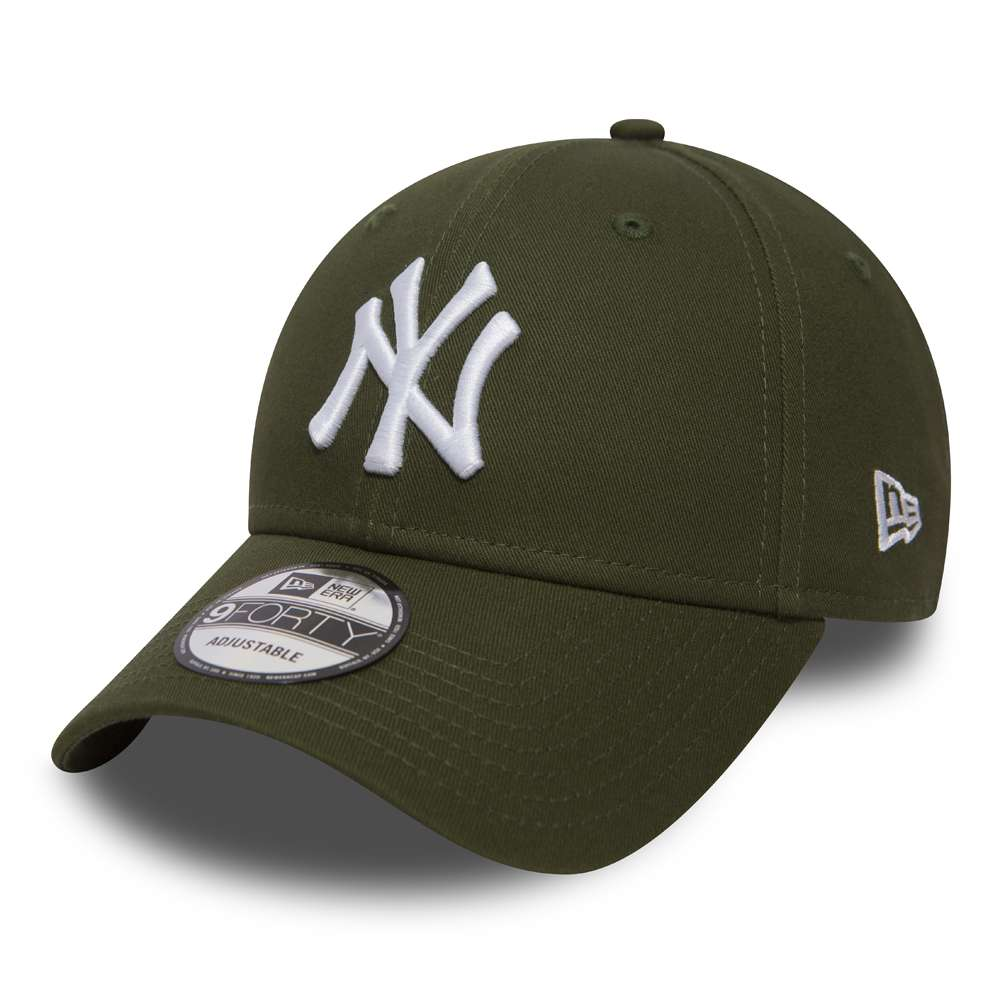 casquette strapback new york yankees essensial 9forty vert kaki. Black Bedroom Furniture Sets. Home Design Ideas