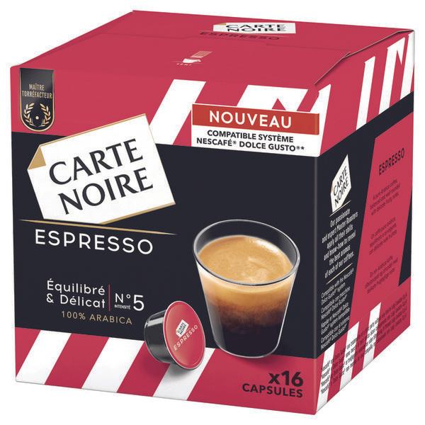 un paquet de capsules de caf carte noire compatibles nescaf dolce gusto via sur la. Black Bedroom Furniture Sets. Home Design Ideas