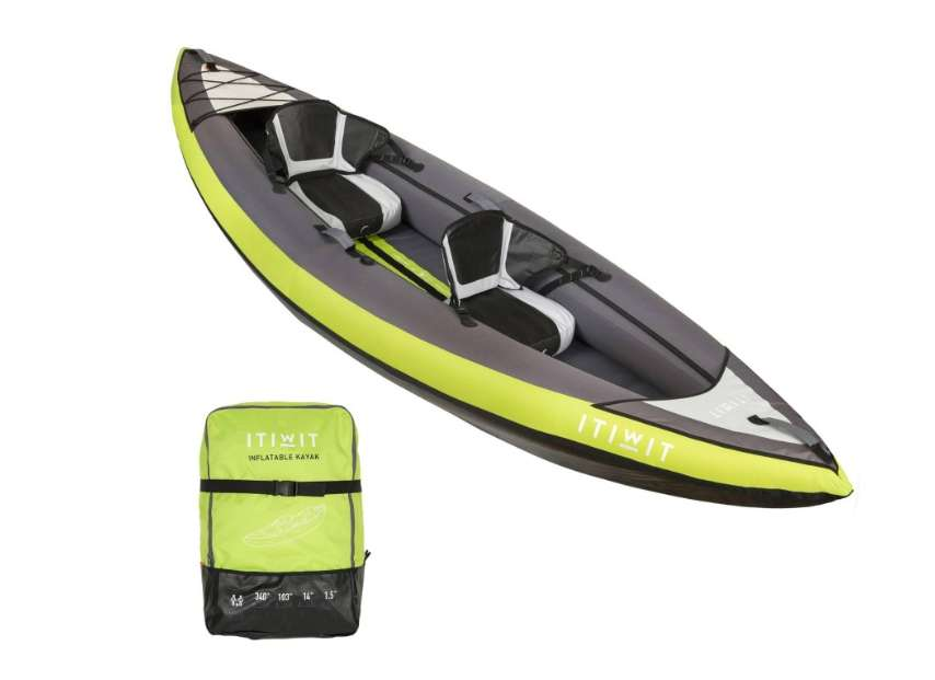 canoe kayak gonflable 1 ou 2 places itwit. Black Bedroom Furniture Sets. Home Design Ideas