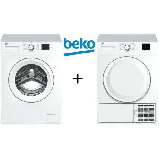pack beko lave linge frontal 7 kg s che linge frontal avec pompe chaleur 7 kg. Black Bedroom Furniture Sets. Home Design Ideas
