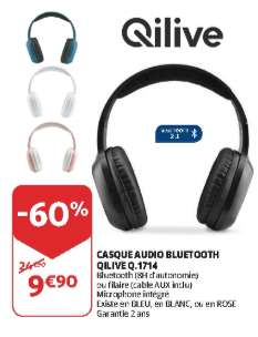casque audio bluetooth qilive diff rents coloris frontaliers luxembourg. Black Bedroom Furniture Sets. Home Design Ideas
