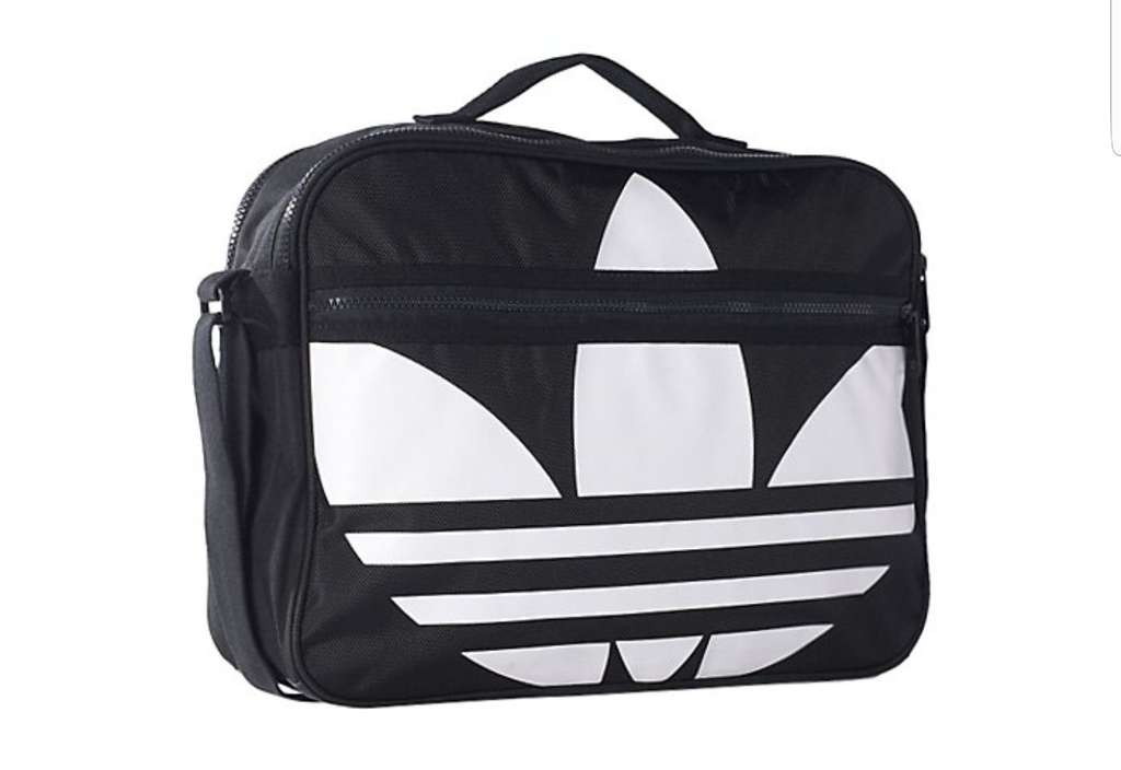 sac de sport adidas trefoil airliner noir et blanc 40 x. Black Bedroom Furniture Sets. Home Design Ideas