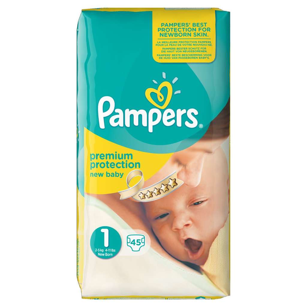 pack 135 couches pampers new baby nouveau n taille 1. Black Bedroom Furniture Sets. Home Design Ideas
