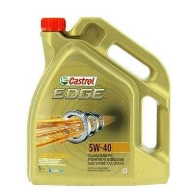 bidon d 39 huile moteur castrol edge 5w 40 5 l avec titanium fst. Black Bedroom Furniture Sets. Home Design Ideas