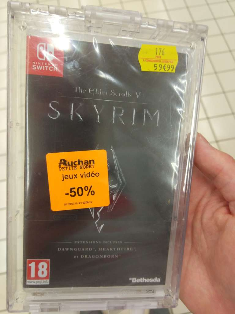jeu skyrim sur nintendo switch auchan petite for t 59. Black Bedroom Furniture Sets. Home Design Ideas