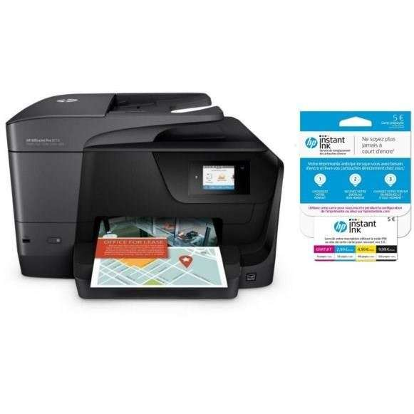imprimante hp officejet pro 8715 carte instant ink 5 sur votre compte via odr 50. Black Bedroom Furniture Sets. Home Design Ideas