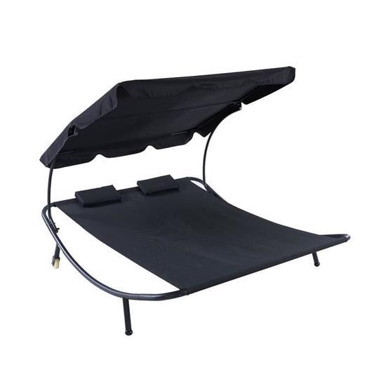 hamac beau rivage 2 personnes noir. Black Bedroom Furniture Sets. Home Design Ideas