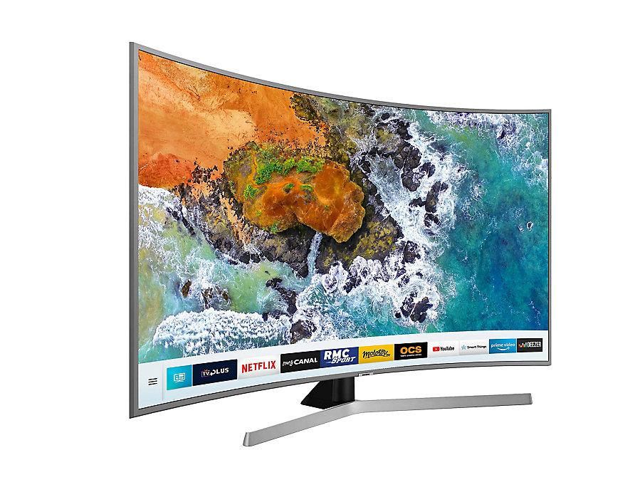 tv led 65 39 39 samsung nu7655 smart tv 1900 pqi 4k uhd. Black Bedroom Furniture Sets. Home Design Ideas