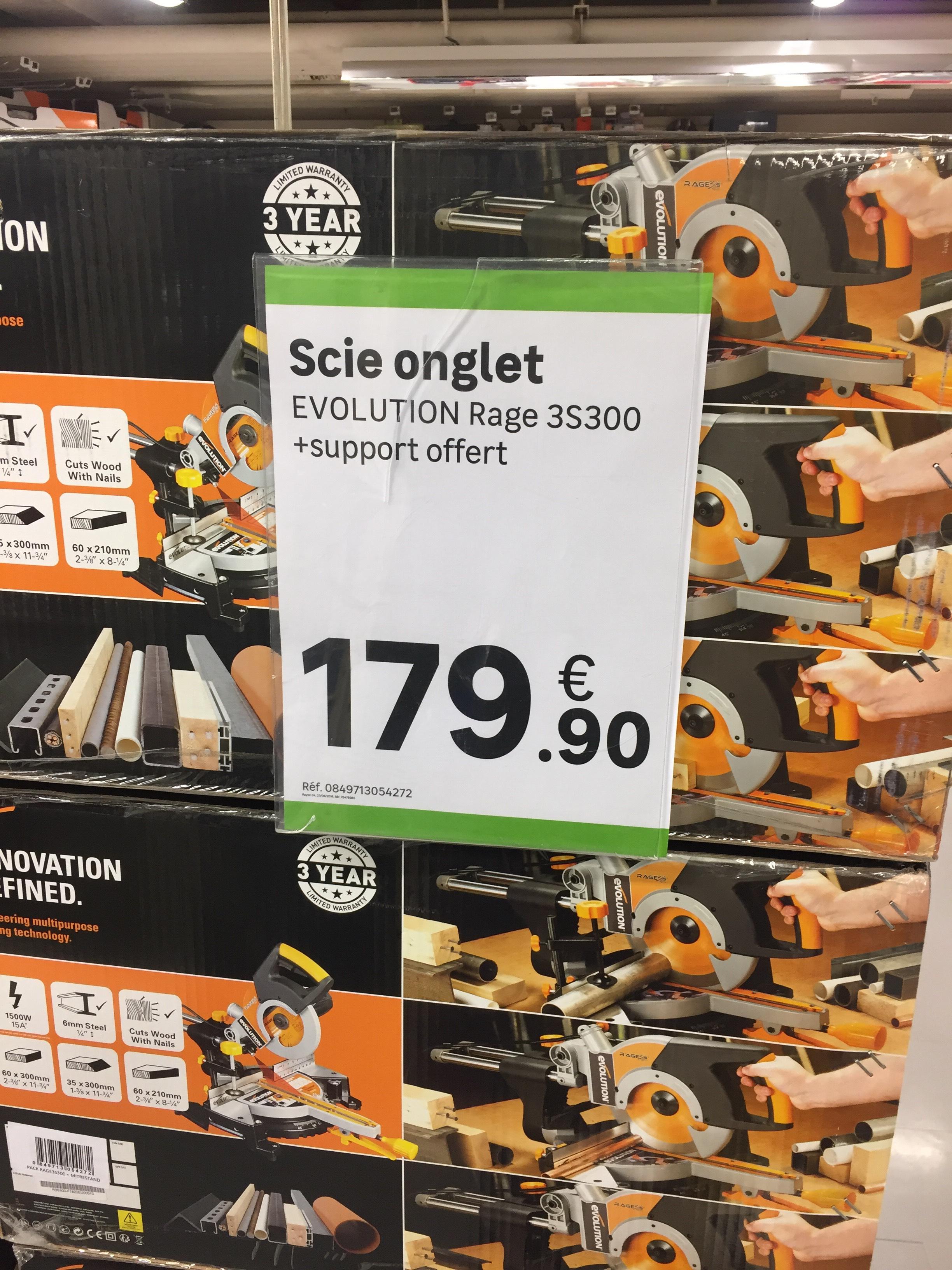 scie onglet radiale volution rage 3s300 support. Black Bedroom Furniture Sets. Home Design Ideas