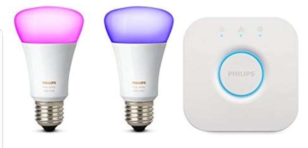 kit de d marrage philips hue 2 ampoules white color e27 pont de connexion. Black Bedroom Furniture Sets. Home Design Ideas