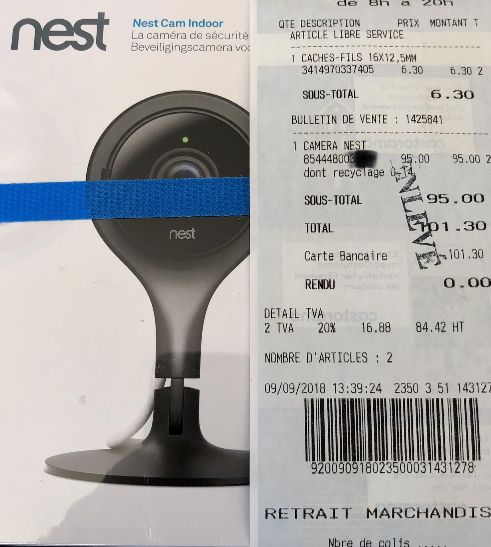camera nest indoor castorama cormeilles en parisis 95. Black Bedroom Furniture Sets. Home Design Ideas
