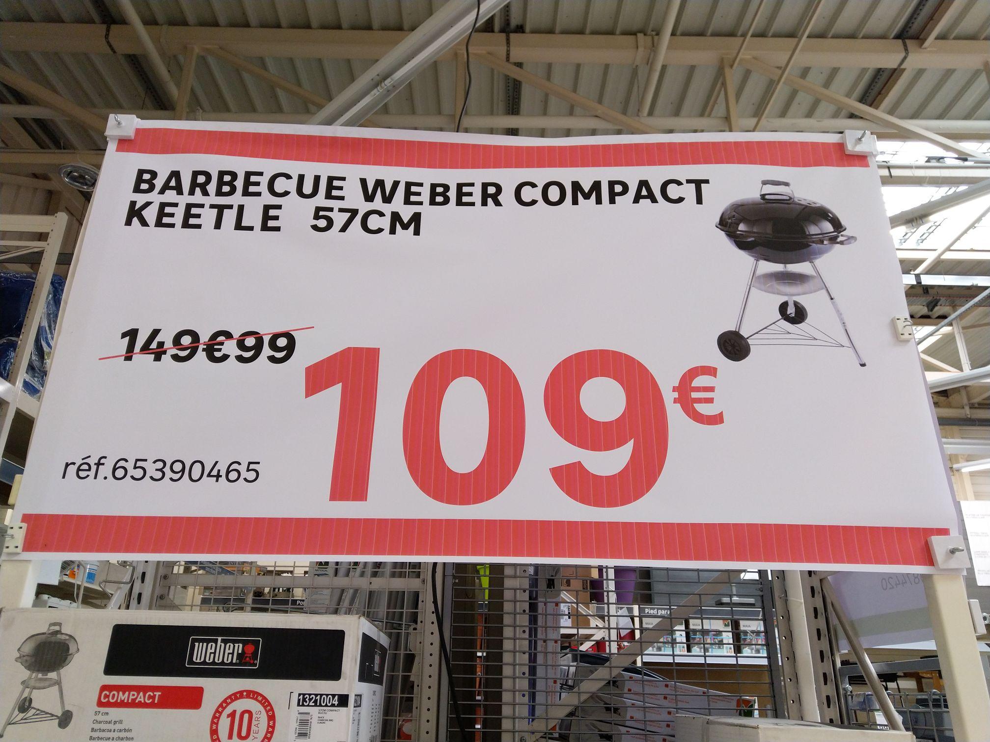 barbecue au charbon de bois weber compact kettle 57 noir marseille 13. Black Bedroom Furniture Sets. Home Design Ideas