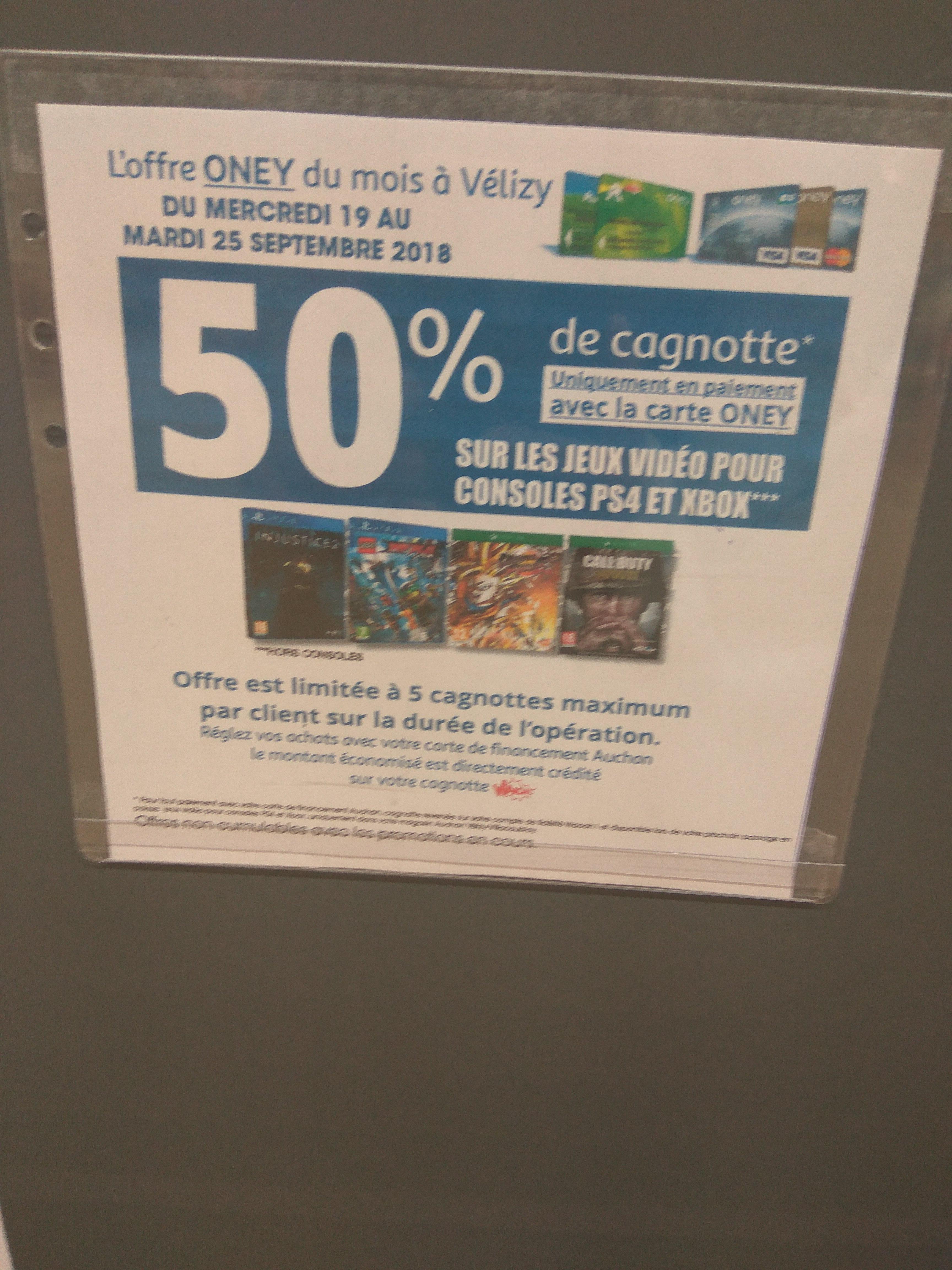 Carte Auchan Waaoh Oney.Carte Auchan Oney 50 Credites Sur La Carte De Fidelite