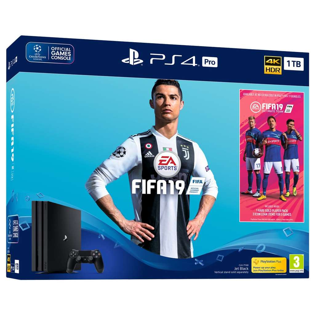pr commande pack console sony ps4 pro 1 to fifa 19 abonnement de 14 jours au ps plus. Black Bedroom Furniture Sets. Home Design Ideas