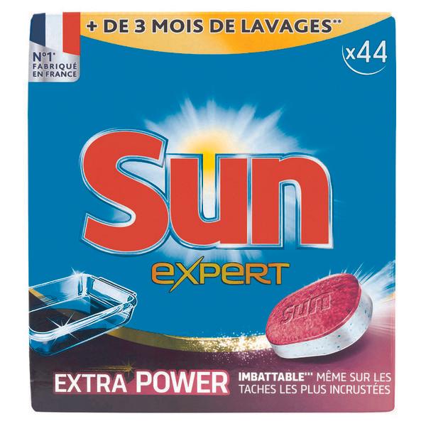 1 paquet de 44 tablettes lave vaisselle sun via 5 38 sur la carte. Black Bedroom Furniture Sets. Home Design Ideas