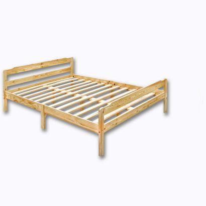 lit en pin massif 2 personnes sommier. Black Bedroom Furniture Sets. Home Design Ideas