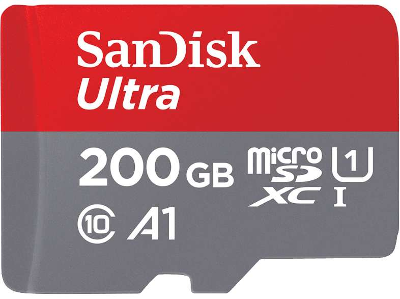 carte m moire micro sdxc sandisk ultra a1 200 go frontaliers allemagne. Black Bedroom Furniture Sets. Home Design Ideas