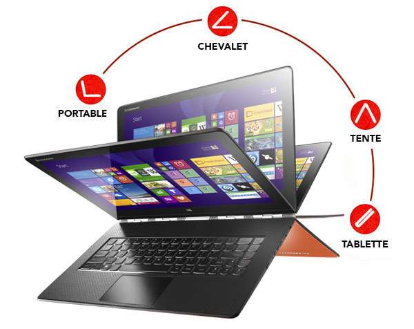 pc portable tactile 13 3 lenovo yoga 3 pro intel core m 512 go ssd 8 go ram avec odr tva. Black Bedroom Furniture Sets. Home Design Ideas